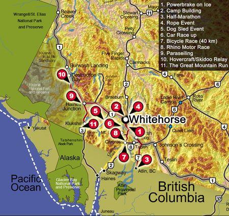mapa trasy Fulda Challenge 2007