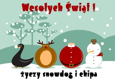 Wesołych Świąt życzy snowdog i ekipa